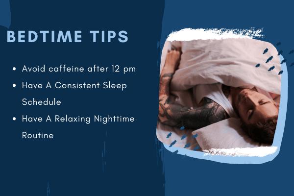 bedtime tips for quality sleep